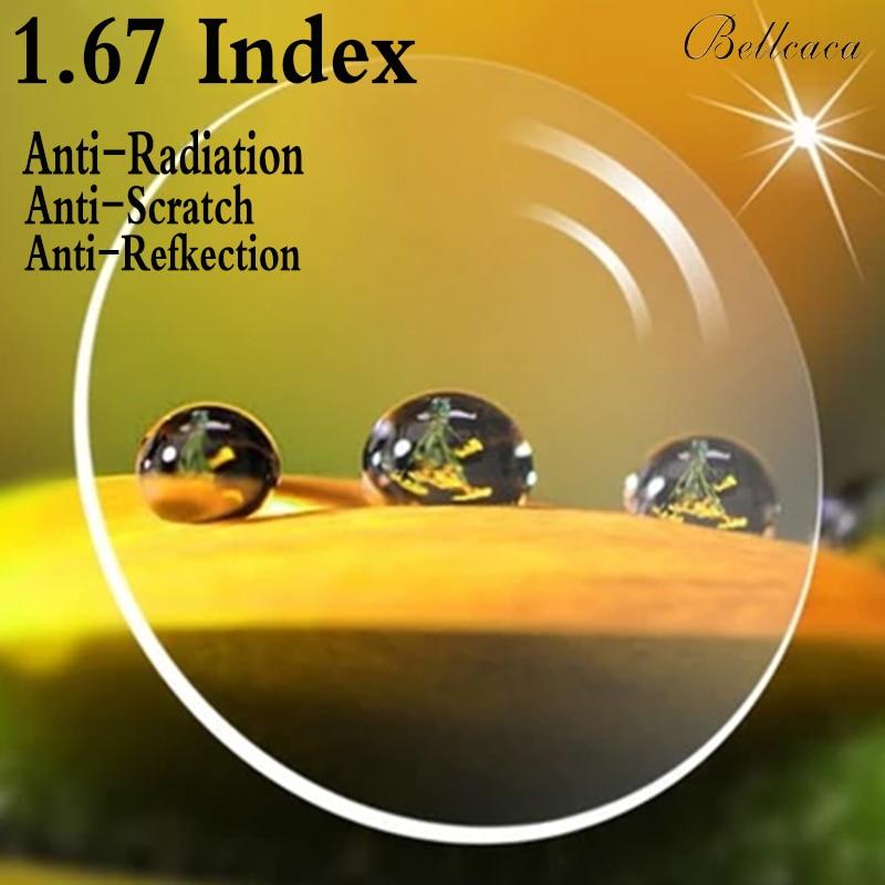 1 67 Index Aspheric Ultra thin Optical Prescription Lens CR 39 Myopia Lens Glasses Lens Anti