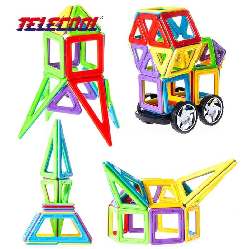 TELECOOL 90 PCS magnetic block Building Models Toy with Windmill Car Enlighten Plastic Educational for Toddlers magnetic 77 82 89pcs magnetic kits building models toy with windmill car enlighten plastic educational for toddlers yoyo diy