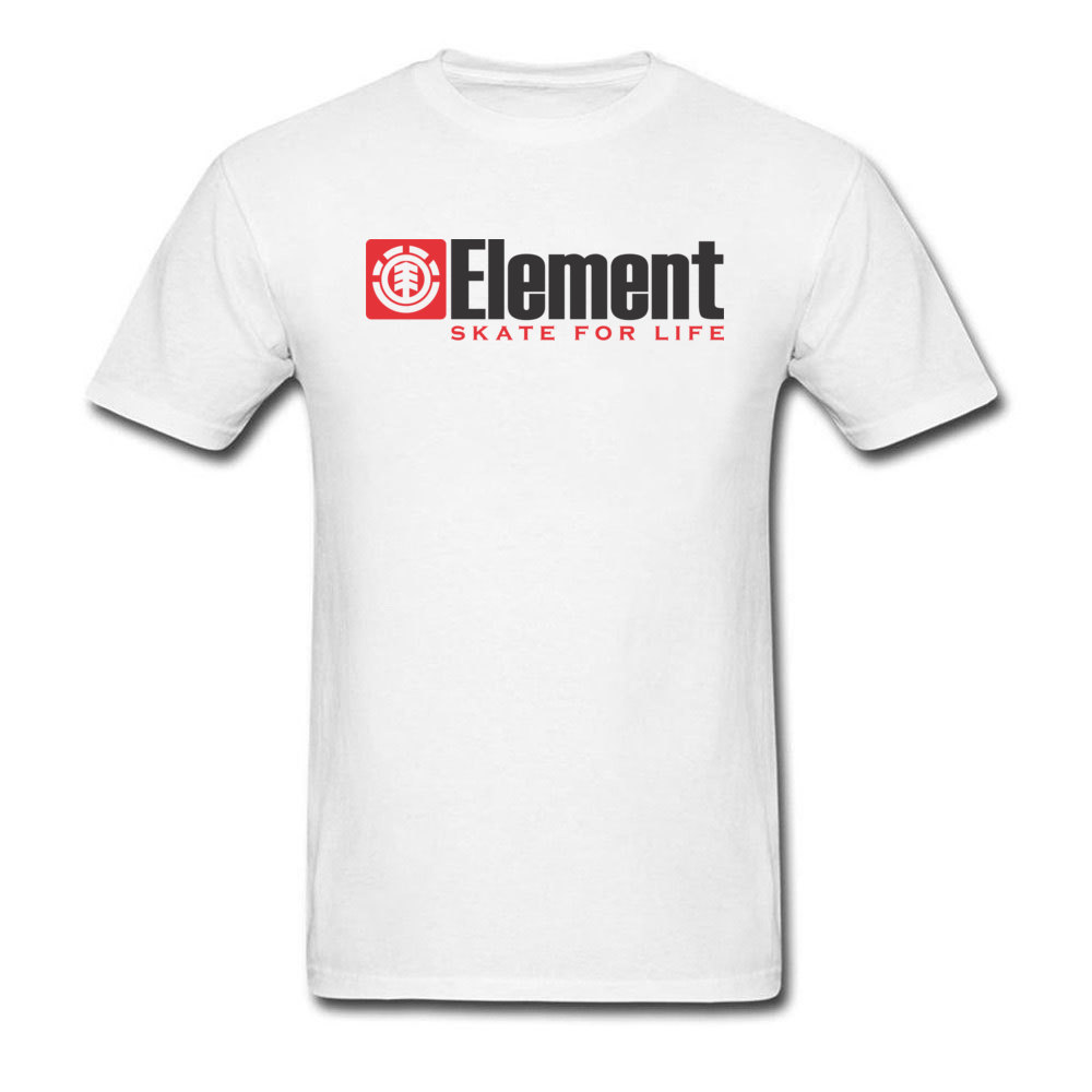 Element T-shirt Men Skater T Shirt Element Skate For Life Tops & Tees Simple Letter Tshirt Custom Cotton White Clothes Plus Size
