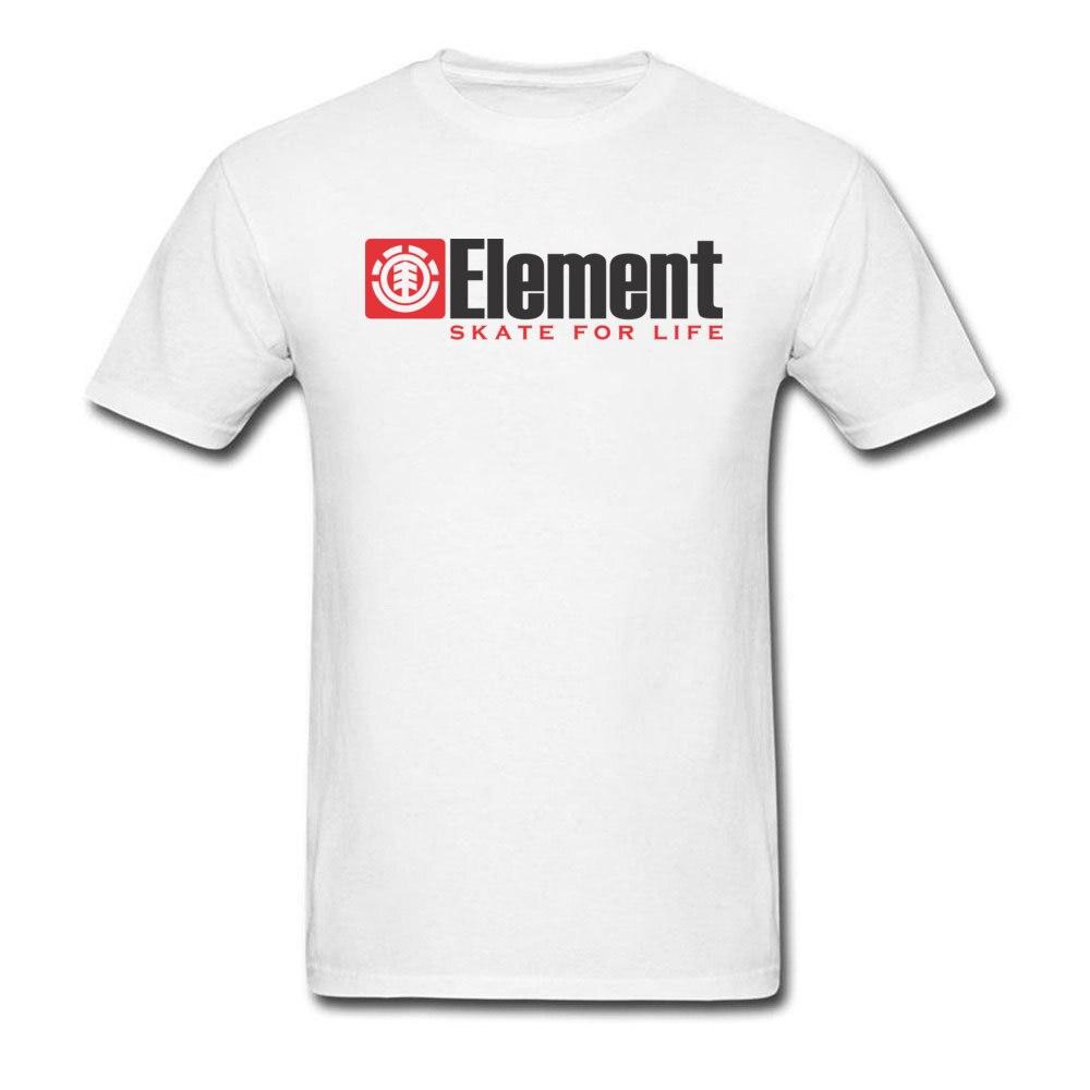 Element T-shirt Men Skater T Shirt Element Skate For Life Tops & Tees Simple Letter Tshirt Custom Cotton White Clothes Plus Size