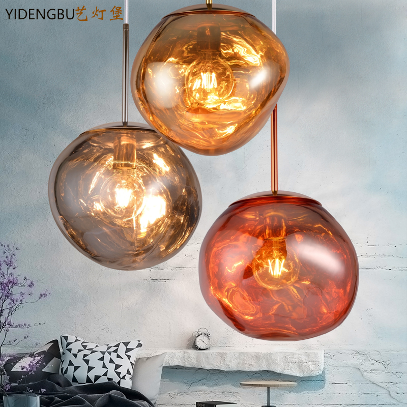 Nordic personal lava chandelier, living room, dining room bar, lamp bar, post modern front desk, single head lamp.