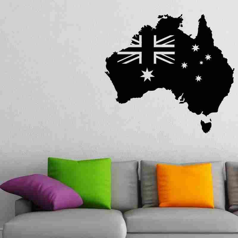 australia map sticker decal muurstickers posters vinyl wall decals