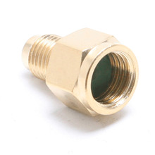цена на Good Quality 1/4 SAE to 1/2ACME Auto A/C Refrigeration Adapter Connector for R134A Air Conditioner Adjustable Coupler Adapter