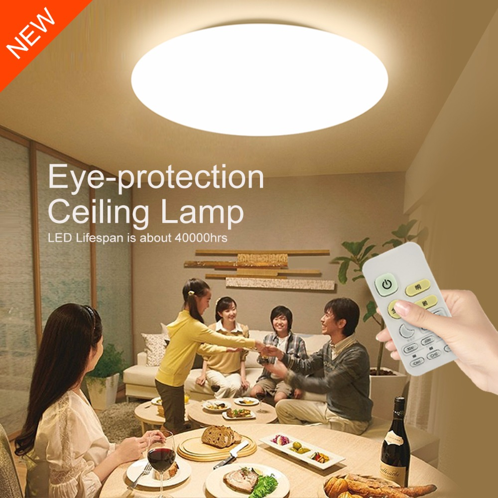 Modern LED Ceiling Lamp Remote Control 10-level Brightness Dimmable Acrylic Ceiling Lights Fixture Bedroom Living Room Office led ceiling lights 24w 220v diamond lighting modern led panel lamp with remote controller brightness color temperature dimmable