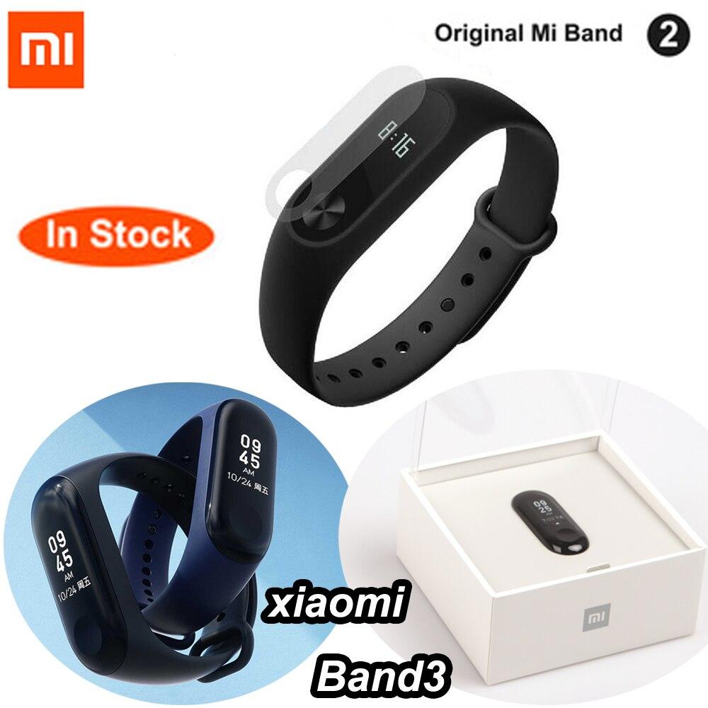 Originale Xiaomi Mi Fascia 2 Mi Band 3 Con display OLED touchpad Intelligente frequenza cardiaca Fitness Bluetooth Wristband Del Braccialetto