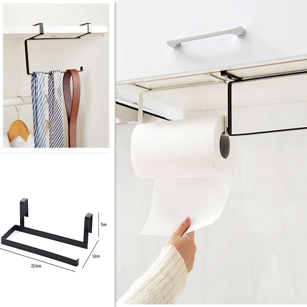 1Pc Tissue Holder Rack Hanging Bathroom Toilet Roll Paper Holder Towel Rack Kitchen Stand Towel Holder Kitchen Storage Shelf