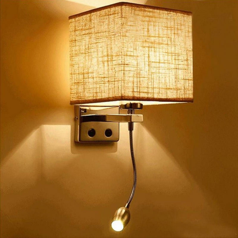 Contemporary Bedroom Wall Lights: Aliexpress.com : Buy Fashion Modern LED Cloth Wall Lamp