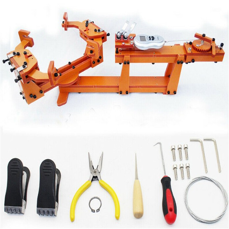Winch Type Personal DIY Badminton Racket Stringing Machine Pulling Threading Machine Wire Stretcher Over 60LB