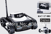 Free Shipping Hot New Toys App Controlled Wireless 4Ch i Spy Tank With Camera for iPhone, iPod Touch and iPad/RC Toy Car