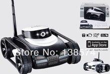 Бесплатная Доставка Горячие Новые Игрушки App-управления Беспроводной 4Ch я-spy Tank С Камерой для iPhone, iPod Touch, и iPad/RC Игрушечных Автомобилей