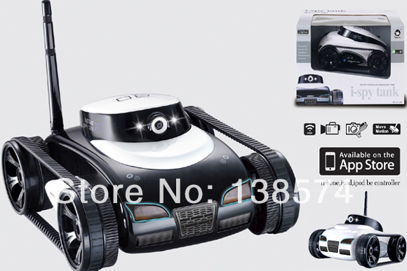 Free Shipping Hot New Toys App-Controlled Wireless 4Ch i-Spy Tank With Camera for iPhone, iPod Touch and iPad/RC Toy Car image