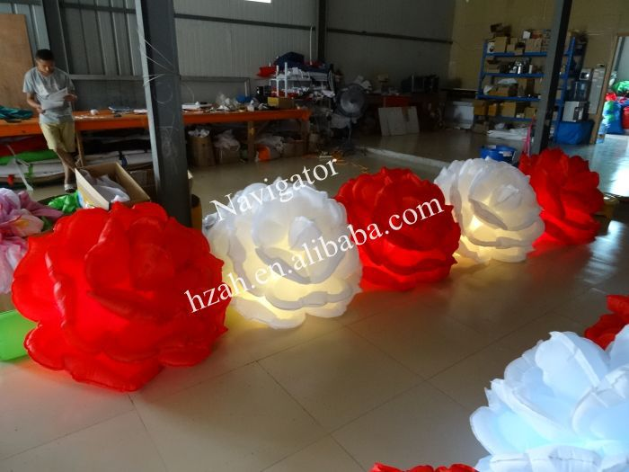 Wedding Decoration Inflatable Rose Flower Chain with - Furniture - Photo 5