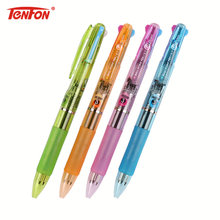 TENFON 1PC 3 Colors In 1 Press Ballpoint Pen 0.7mm Classic Office School Accessories Pen Stationery Escolar Material B-5163(China)