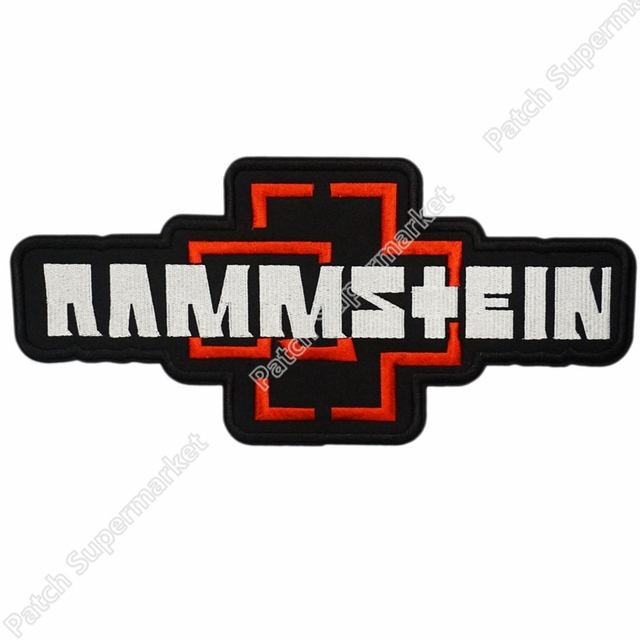 4 3 rammstein back red heavy metal music punk rock band logo rh aliexpress com heavy metal band patches uk Heavy Metal Patch Store