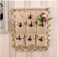 Household Hanging Storage Bag Built-in 7 Small Bags Cloth Art Home Accessories Classification Storage Bag Hanging Bag