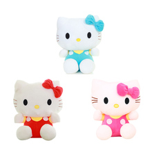 1PC 20cm High Quality Cheap Hello Kitty 3 Colors Popular Toys For Girls Selling Doll Baby Toy Plush Toy For Kids