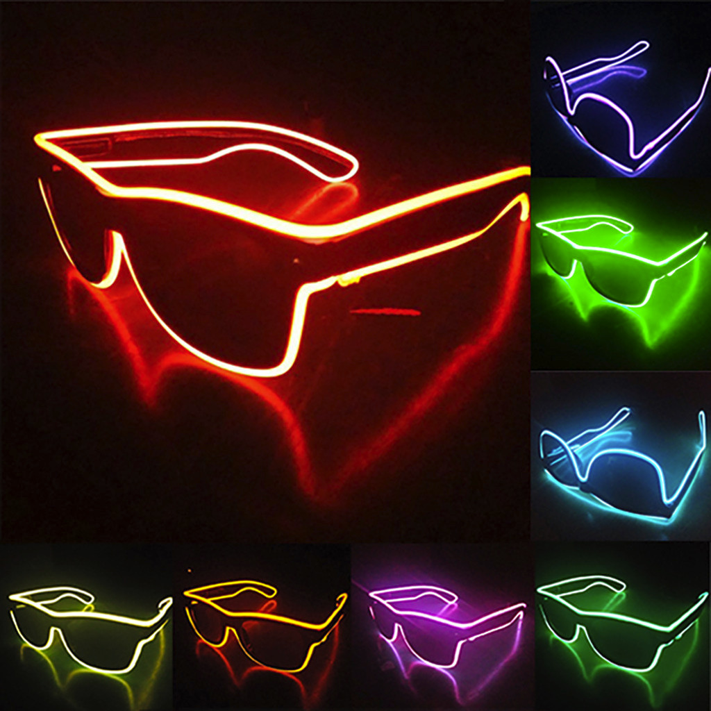 Women's Glasses Fast Deliver Fashion Women And Men Flashing Glasses El Wire Led Glasses Halloween Party Eyewear Glow Sunglasses Uv400 Drop Shipping F3 Latest Technology Women's Sunglasses