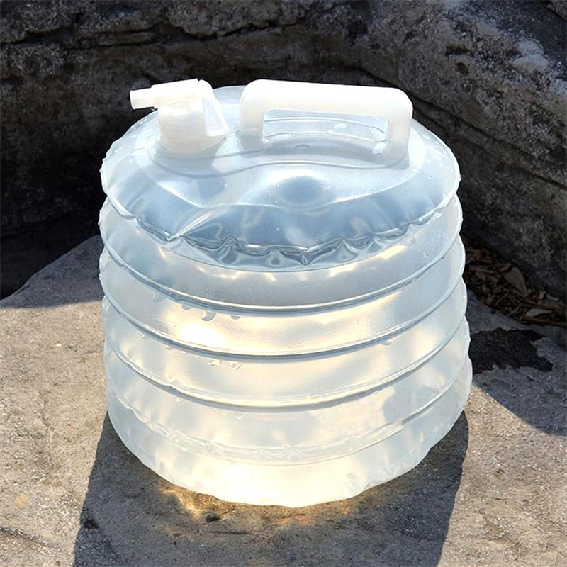 Portable Outdoor car camping Plastic folding bucket PE compression expansion bottle kettle foldable collapsible water bucket|bag pe|bag bucket|bucket mop - title=
