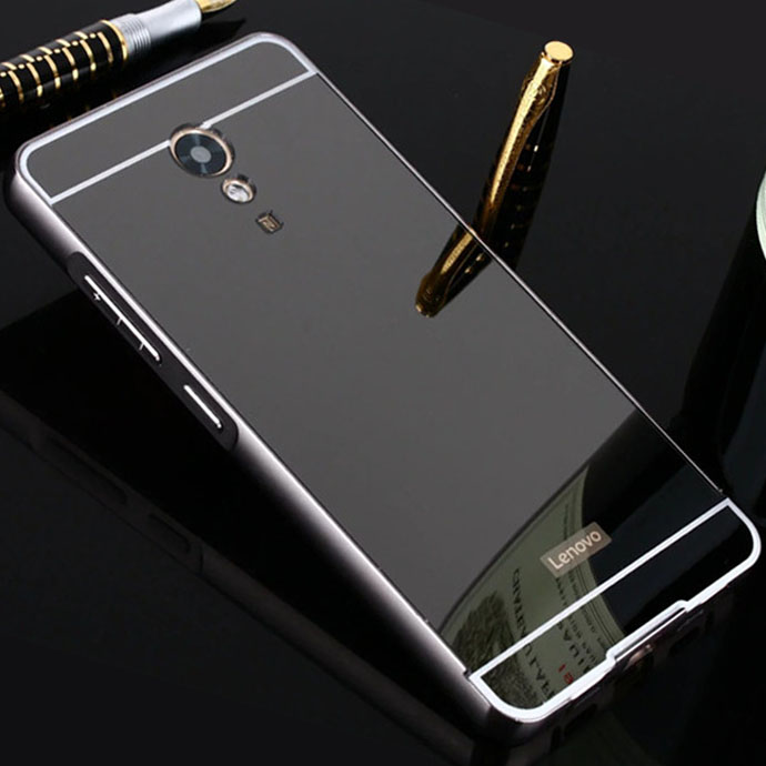 wholesale dealer 3ac6c 06aee Newest Lenovo P2 Case 5.5 inch Aluminum Metal Bumper Plating Mirror Acrylic  PC Case For Lenovo Vibe P2 Back Cover Fundas Coque-in Fitted Cases from ...