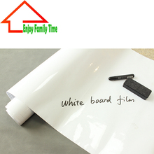 Manufacturers Wholesale 60 CM By 500CM Teaching Soft Environmental Self-Adhesive White Board Film Large Can Give Erasable Pen
