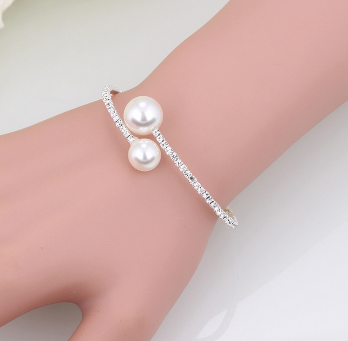 Fashion Simulated Pearl Bridal Jewelry sets For Women 23