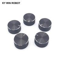 potentiometer knob 1 pcs 25x13mm Aluminum Alloy Potentiometer Knob Black (2)