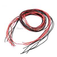 22 AWG 5m Gauge Silicone Wire Flexible Stranded Copper Cables for RC Black Red S08 Drop ship