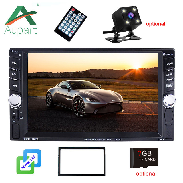 2din Car Radio Player 6.6 inch TFT Double din Touch Screen Audio 2 Din Autoradio MirrorLink Multimedia Player FM Stereo