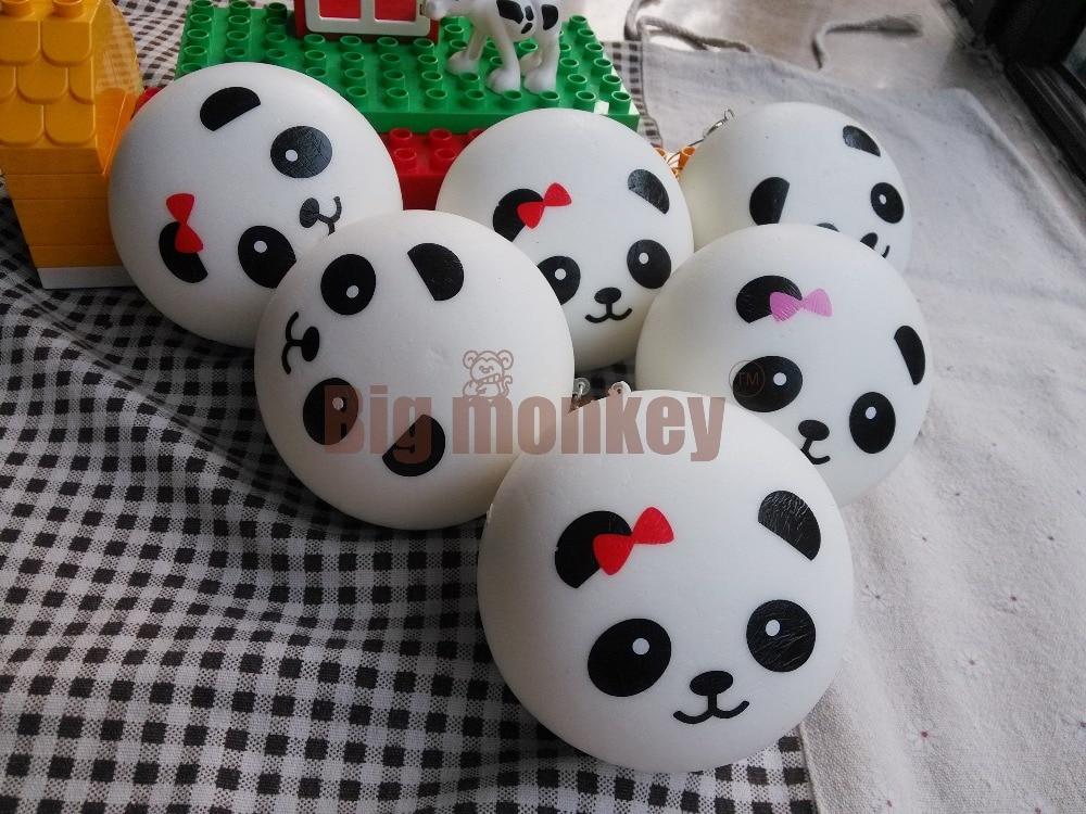 imágenes para Mono grande GRANDE GRANDE 10 CM Kawaii Pareja de Pandas Encanto Blando Del Teléfono Celular/Encanto Del Bolso/Correas Del Teléfono