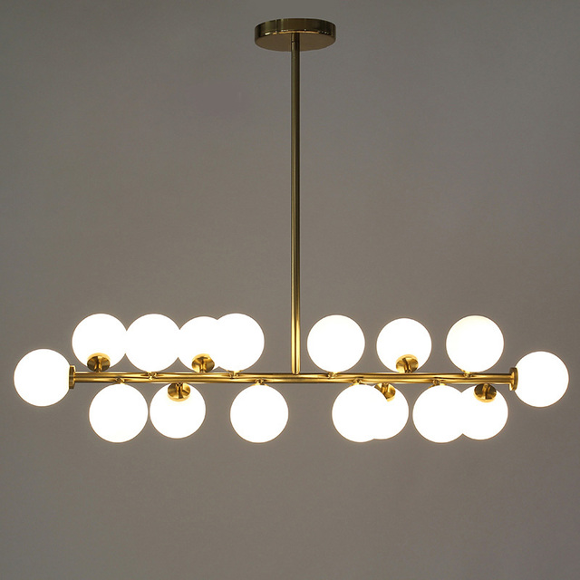 Length 1000mm gold/black magic bean led pendant lights living dining room shop modern led striplight glass pendant lamp fixtures