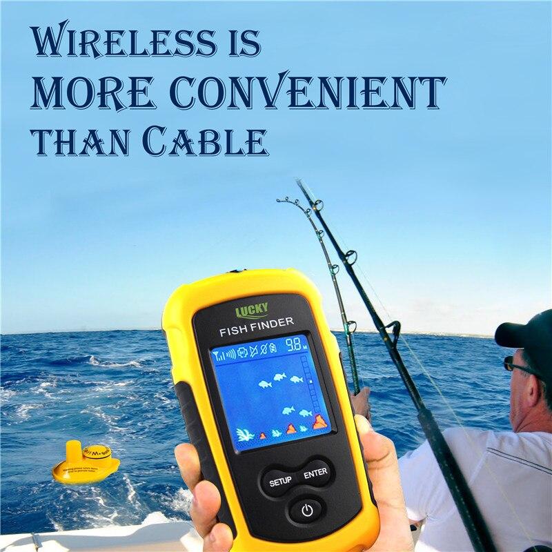 Direct Selling Sonar Fish Finder Wireless Fishfinder200 Feet(60m) Range Protable Fishing Sounder English Russian Freeshipping купить эхолот humminbird fishfinder 565
