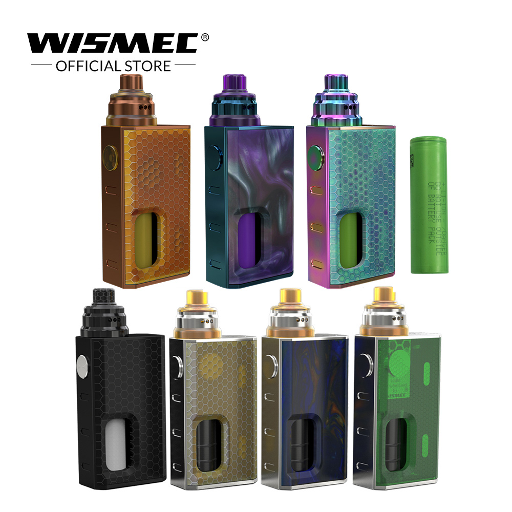 [Official Store]Original WISMEC LUXOTIC BF Kit with Tobhino RDA Tank 7.5ml with 18650 battery electronic cigarette vaporizer robotbase rb 13k022 electronic start building blocks kit works with official arduino boards