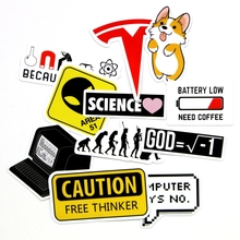 11pcs Creative small sign stickers Alien Human Evolution Power icon decorative sticker  for phone laptop decoration stickers