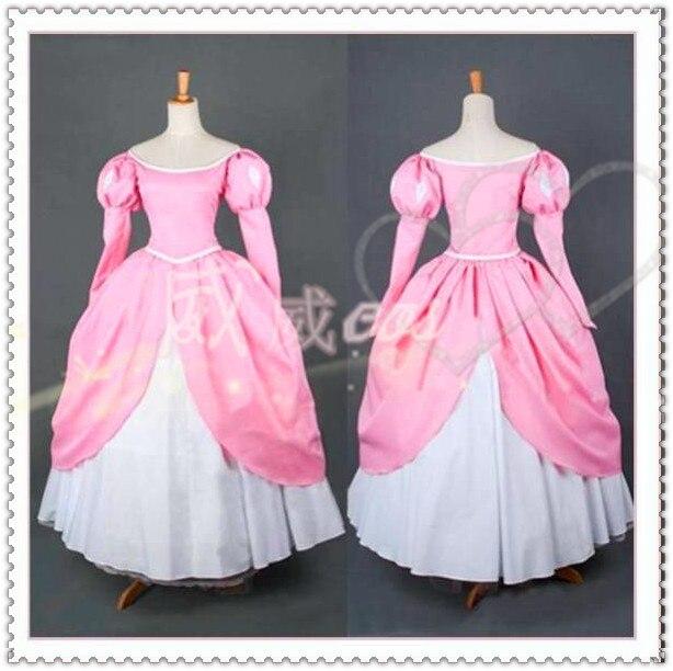 5835 34 De Descuentola Sirenita Ariel Princesa Rosa Vestido Hecho Disfraz Cosplay Envío Gratis In Disfraces De Anime From Novedad Y Uso Especial