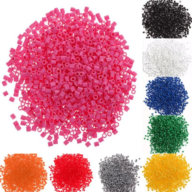 1000pcs 5mm EVA For Hama/Perler Beads Toy Kids Craft DIY Handmaking Fuse Bead Multicolor Creative Early Educational Toys Gifts