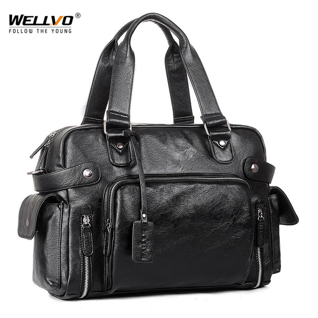 Brand Designer Travel Bag Leather Handbags Men's Casual Tote For Men Large-Capacity Portable Shoulder Bags Big Package XA214ZC 1