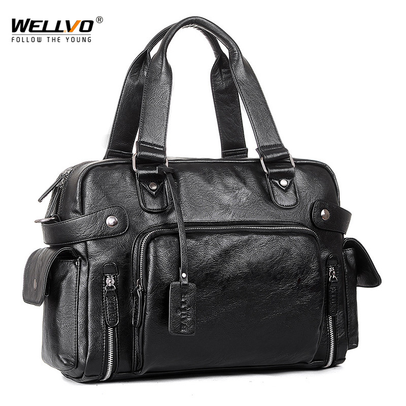 Brand Designer Travel Bag Leather Handbags Men's Casual Tote For Men Large-Capacity Portable Shoulder Bags Big Package XA214ZC