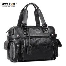 Brand Designer Travel Bag Leather Handbags Men's Casual Tote For Men Large-Capacity Portable Shoulder Bags Big Package XA214ZC