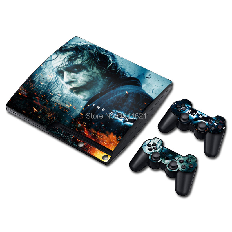 1 set Vinyl Decal Skin Sticker for PS3 Super Slim for PS3 Slim and 2 Controller Skins Games Cover