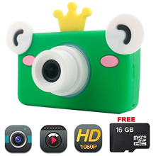 лучшая цена Camera lens for Kids Toy Camera HD 8MP Video Digital Camera Camcorder for Girls and Boys Includes 16gb microSD Card