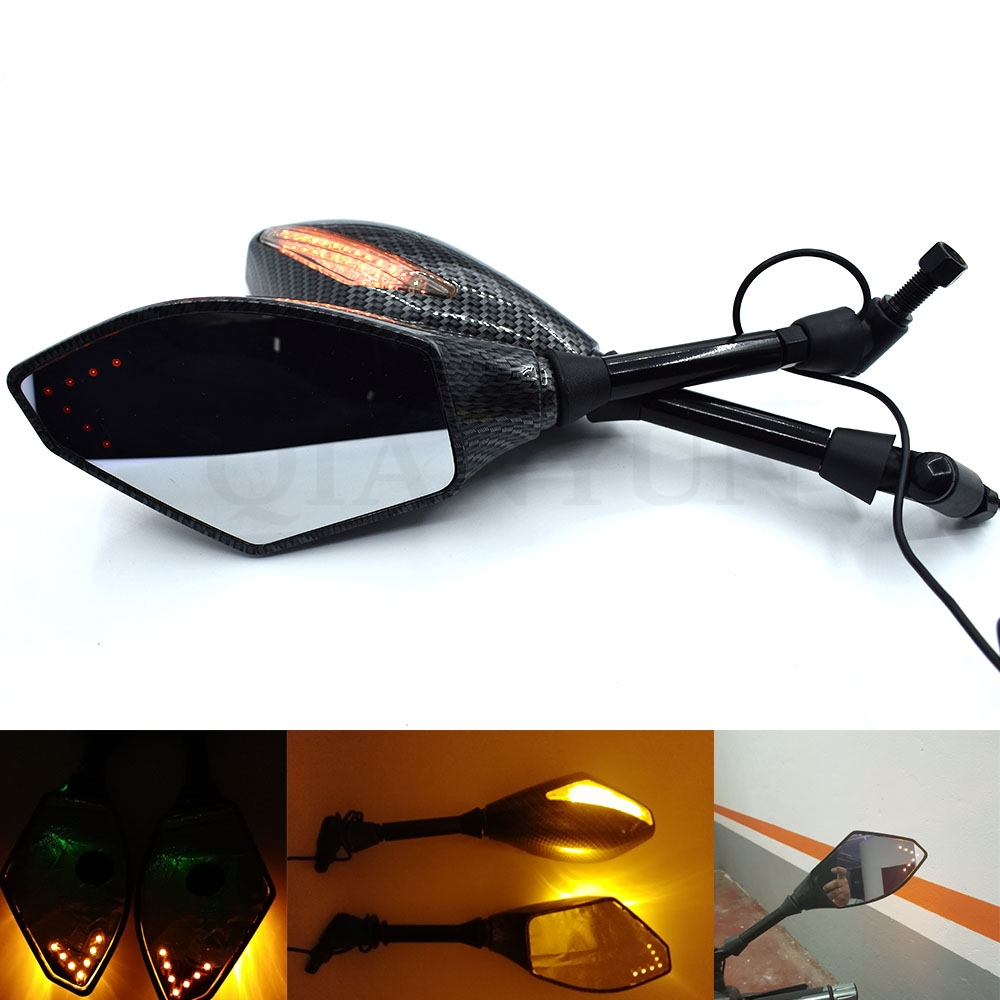 CARBON Mirrors Triumph Daytona 675 ALL YEAR Integrated LED universal use install