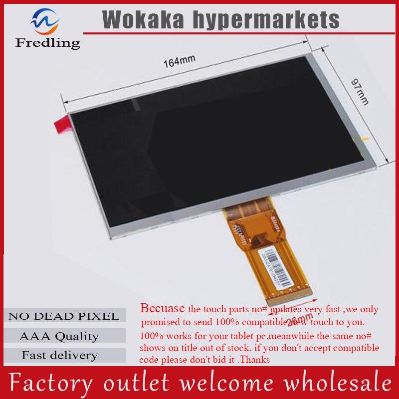 LCD Display 7 Wexler.Tab 7b TABLET CPT7D37DB XC070XY 1024*600 TFT LCD Screen Matrix Panel Lens Viewing Module Free Shipping
