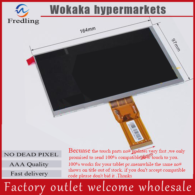 LCD Display 7 Wexler.Tab 7b TABLET CPT7D37DB XC070XY 1024*600 TFT LCD Screen Matrix Panel Lens Viewing Module Free Shipping new lcd display matrix for 7 nexttab a3300 3g tablet inner lcd display 1024x600 screen panel frame free shipping