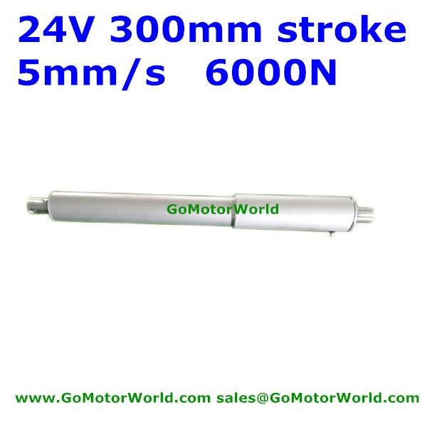 6000N  600KG 1320LBS load 5mm/s 0.2inch/sec speed 300mm 12inch stroke 24V DC heavy duty electric linear actuator LA19B 20150814