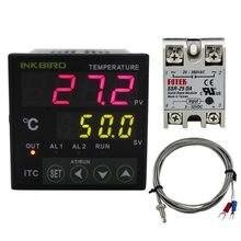 Inkbird ac 100-220 v ITC-100VH controlador de temperatura do termostato pid de digitas com da 25a ssr e termopar k
