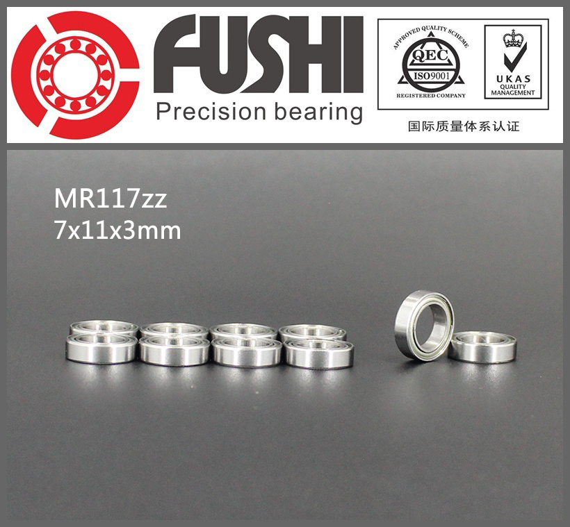 MR117ZZ Bearing ABEC-1 (10PCS) 7*11*3 mm Miniature MR117 ZZ Ball Bearings MR117-2Z Bearing L-1170ZZ MR117z 6903zz bearing abec 1 10pcs 17x30x7 mm thin section 6903 zz ball bearings 6903z 61903 z