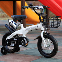 14/16/18 Inch Children Mountain Bike One piece High Carbon Steel Frame MTB Brakes Double Disc Brakes Kids Bicycle Kids Bicycle