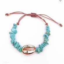 New Vintage Shell Bracelet For Women Gold Bangles Adjustable Female Jewelry Boho Gifts