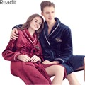 Coral fleece Couples Robes Women Warm Robe Home Gowns Peignoir Femme Polaire Female Male Robes Home Clothing Bathing Robe PA1445