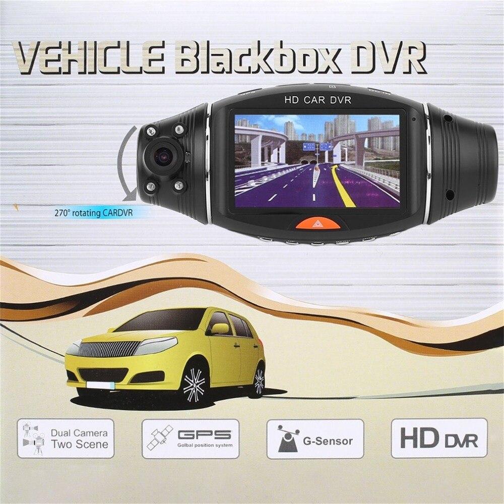 2.7 Inches Dual Lens HD Car DVR Recorder GPS Tracker HD 1080P Camcorder Night Vision DVR Recorder Dash Cam Video Recorder2.7 Inches Dual Lens HD Car DVR Recorder GPS Tracker HD 1080P Camcorder Night Vision DVR Recorder Dash Cam Video Recorder